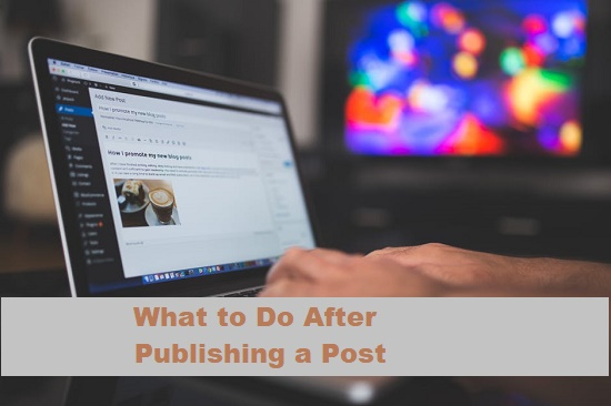 Things to do after publishing a Post